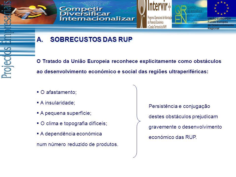 UNIÃO EUROPEIA Fundo Europeu de Desenvolvimento Regional A.