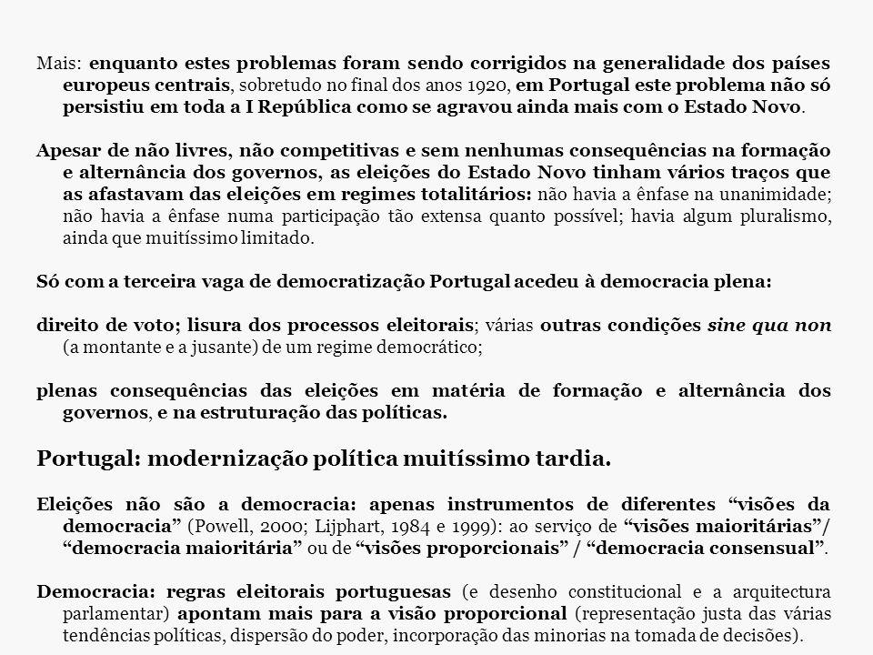 Mais: enquanto estes problemas foram sendo corrigidos na generalidade dos países europeus centrais, sobretudo no final dos anos 1920, em Portugal este