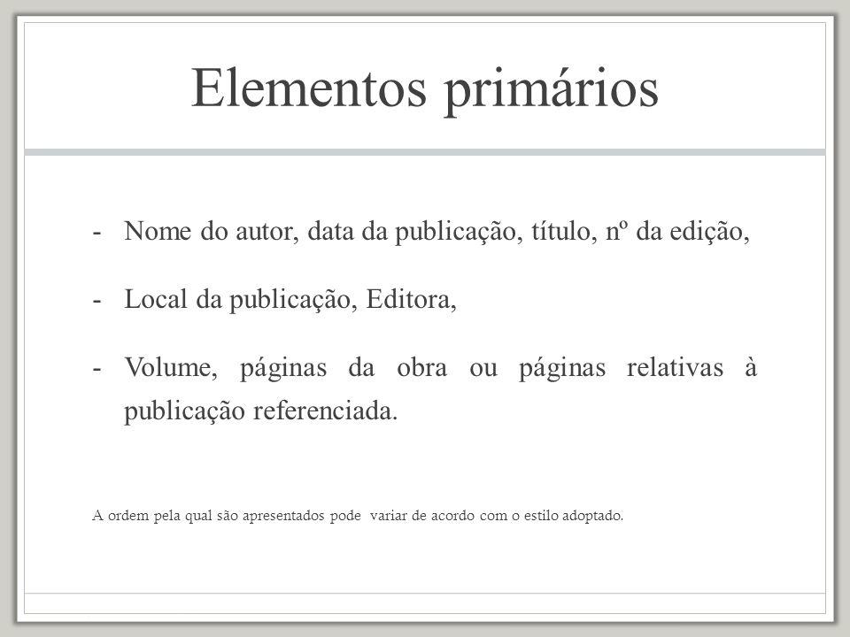 cap.(capítulo); ed. (edição); Rev. ed. / Ed. rev.