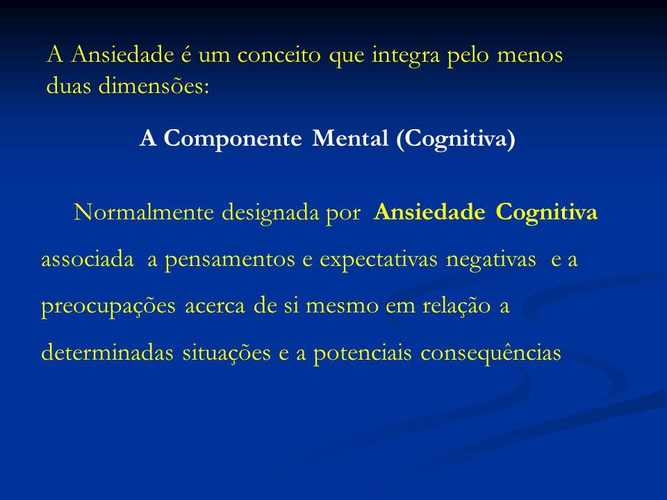 A Componente Fisiológica (Emocional) Habitualmente referida como Ansiedade Somática que tem a ver com a percepção individual de aspectos fisiológicos-afectivos traduzidos em desagradáveis sentimentos de nervosismo e tensão.