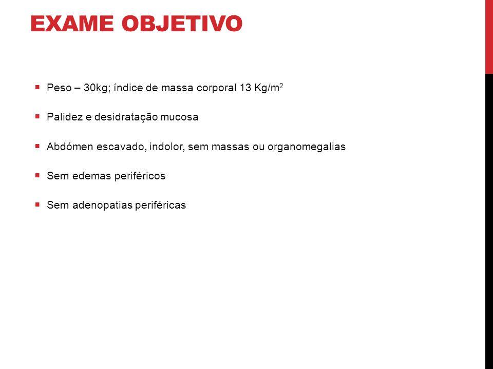 EXAMES COMPLEMENTARES DE DIAGNÓSTICO  Análises: