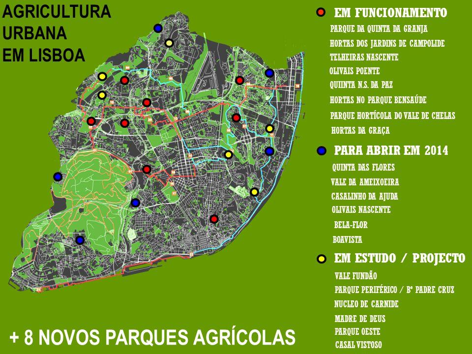 PARQUE PERIFÉRICO / Bº PADRE CRUZ PARQUE HORTÍCOLA DO VALE DE CHELAS NUCLEO DE CARNIDE VALE DA AMEIXOEIRA PARQUE DA QUINTA DA GRANJA VALE FUNDÃO MADRE