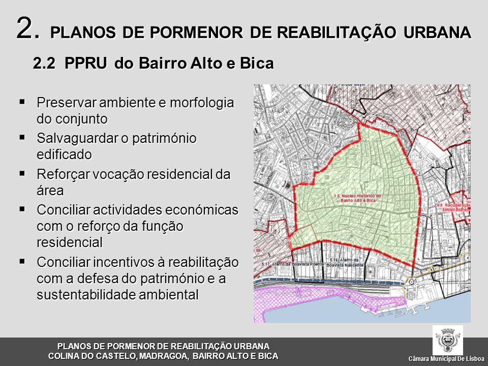  Preservar ambiente e morfologia do conjunto  Salvaguardar o património edificado  Reforçar vocação residencial da área  Conciliar actividades eco