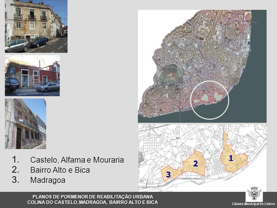 Câmara Municipal De Lisboa 1. Castelo, Alfama e Mouraria 2. Bairro Alto e Bica 3. Madragoa 1 3 2 PLANOS DE PORMENOR DE REABILITAÇÃO URBANA COLINA DO C