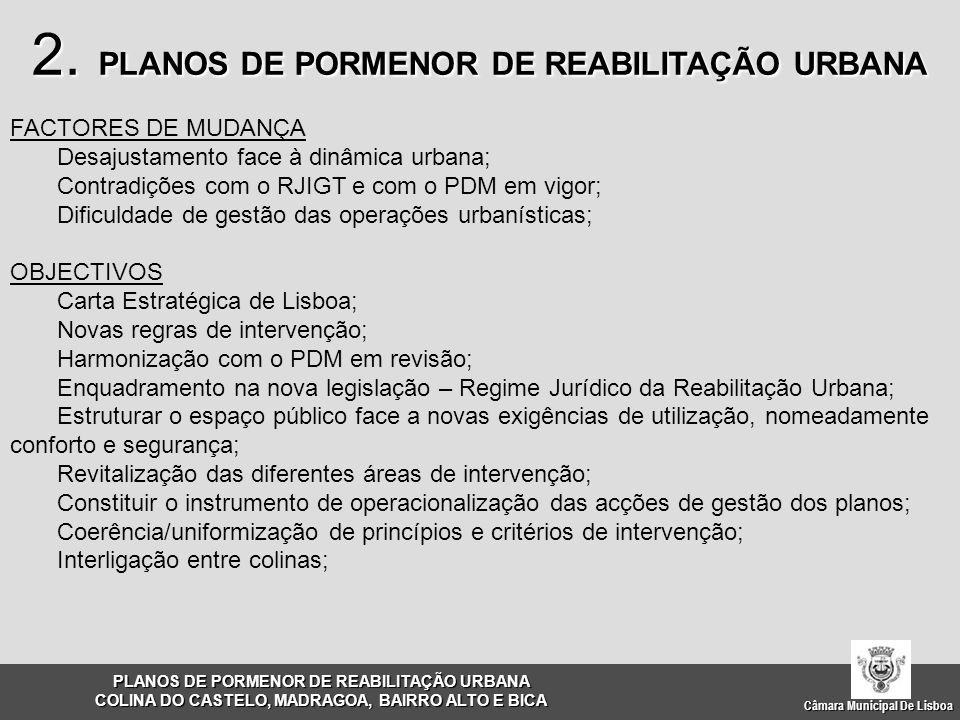 Câmara Municipal De Lisboa FACTORES DE MUDANÇA Desajustamento face à dinâmica urbana; Contradições com o RJIGT e com o PDM em vigor; Dificuldade de ge