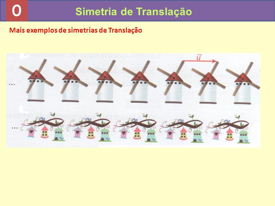 0 Simetria de Translação Mais exemplos de simetrias de Translação