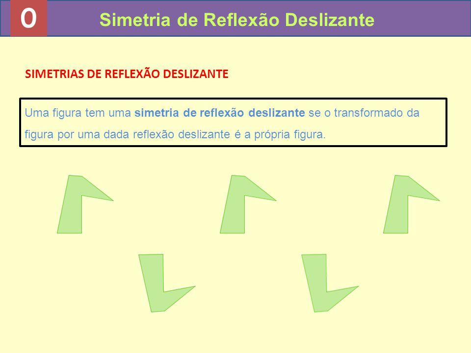 0 Simetria de Reflexão Deslizante SIMETRIAS DE REFLEXÃO DESLIZANTE Uma figura tem uma simetria de reflexão deslizante se o transformado da figura por