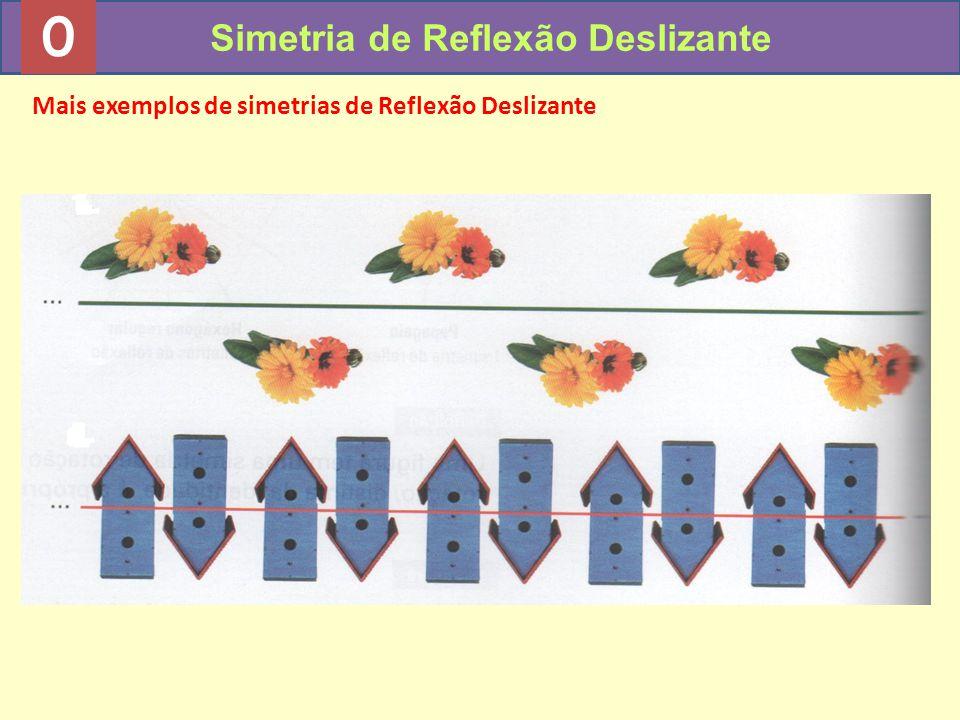 0 Simetria de Reflexão Deslizante Mais exemplos de simetrias de Reflexão Deslizante