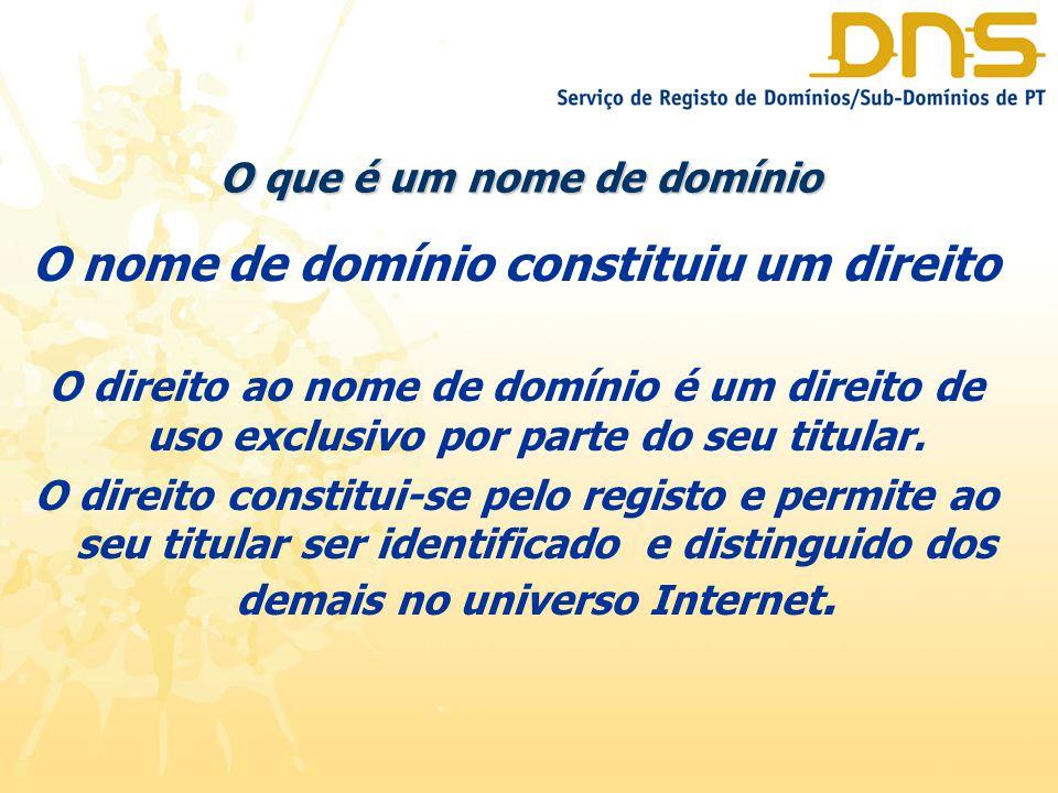 tipos de nomes de domínio Os nomes de domínio são atribuídos por entidades (registrars) devidamente autorizadas pelo ICANN – Internet Corporation for Assigned names and Numbers) que rege a infra-estrutura de DNS Existem dois tipos de nomes de domínio de Topo: GTLD's ccTld's