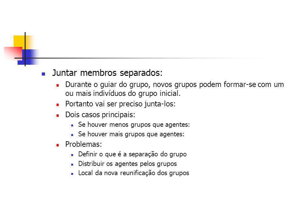 Juntar membros separados: Durante o guiar do grupo, novos grupos podem formar-se com um ou mais indivíduos do grupo inicial.