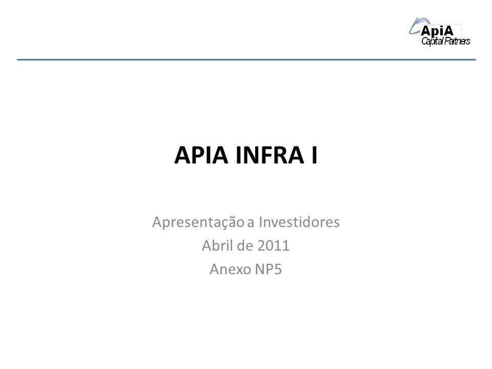 APIA INFRA I Apresentação a Investidores Abril de 2011 Anexo NP5
