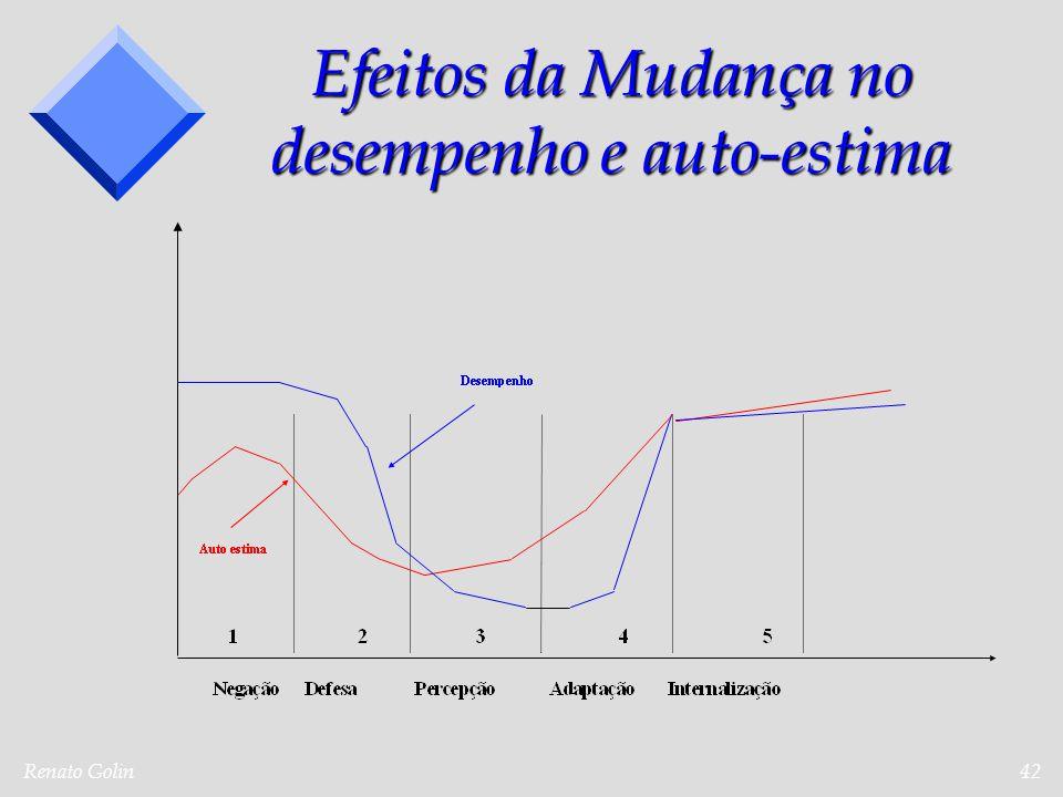 Renato Golin42 Efeitos da Mudança no desempenho e auto-estima