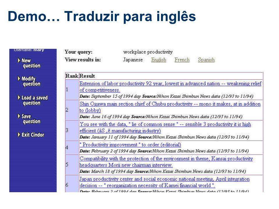 Demo… Traduzir para inglês