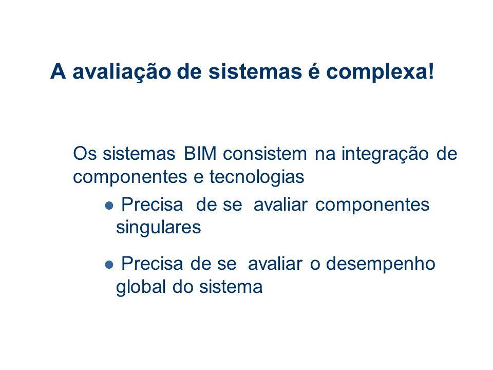 A avaliação de sistemas é complexa.
