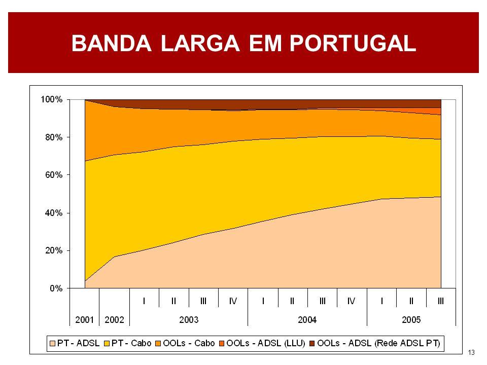 13 BANDA LARGA EM PORTUGAL