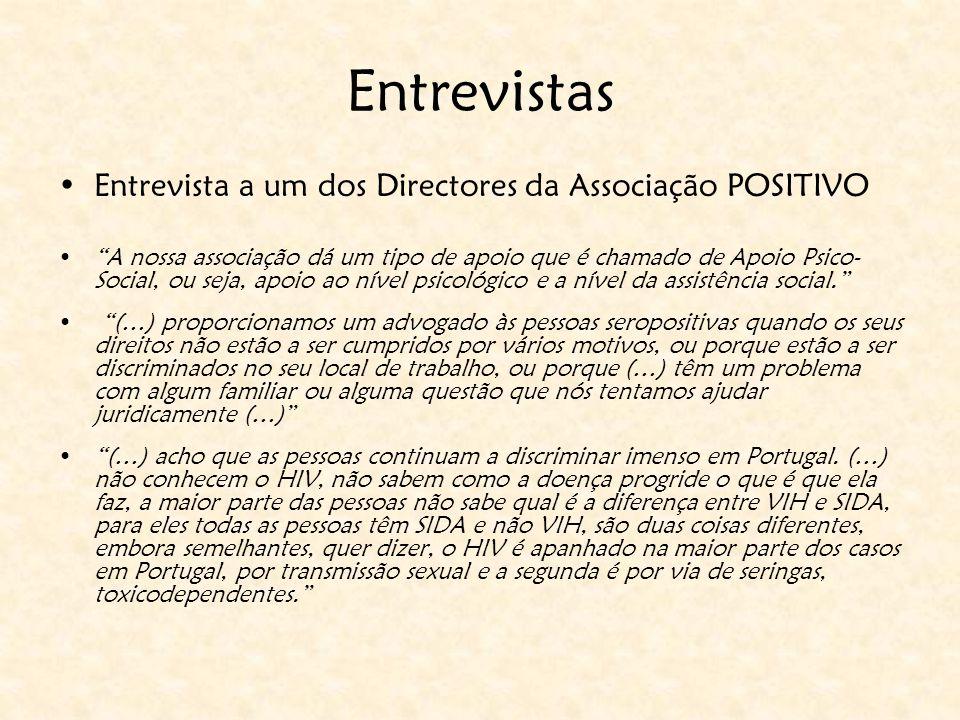 """Entrevistas Entrevista a um dos Directores da Associação POSITIVO """"A nossa associação dá um tipo de apoio que é chamado de Apoio Psico- Social, ou sej"""