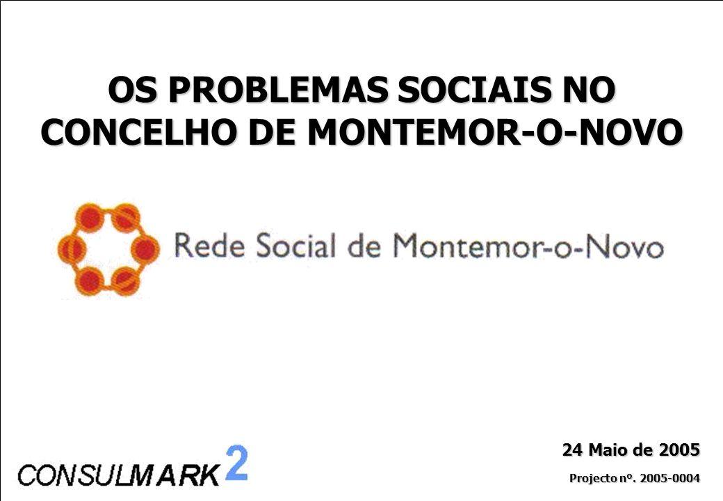 PROJECTO Nº. 2005/004 – Os Problemas Sociais em Montemor-o-Novo 0 24 Maio de 2005 Projecto nº. 2005-0004 OS PROBLEMAS SOCIAIS NO CONCELHO DE MONTEMOR-