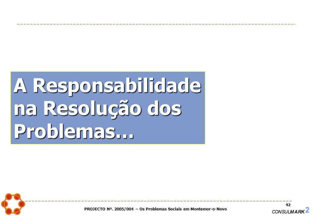 PROJECTO Nº. 2005/004 – Os Problemas Sociais em Montemor-o-Novo 42 A Responsabilidade na Resolução dos Problemas…