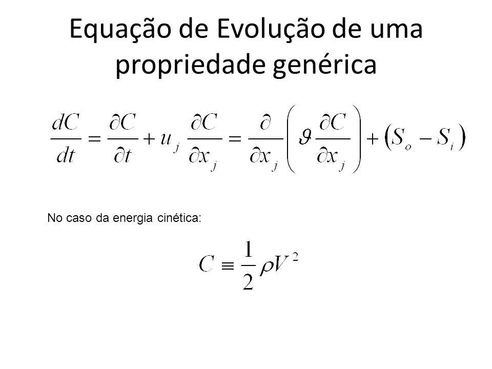 Equação de Evolução de uma propriedade genérica No caso da energia cinética: