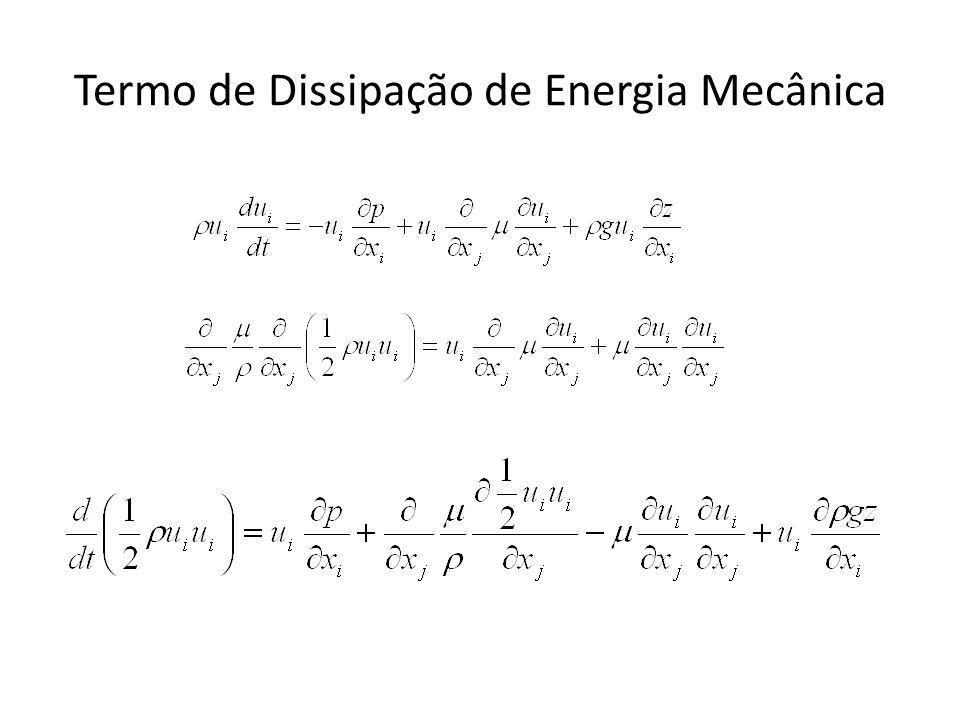Termo de Dissipação de Energia Mecânica