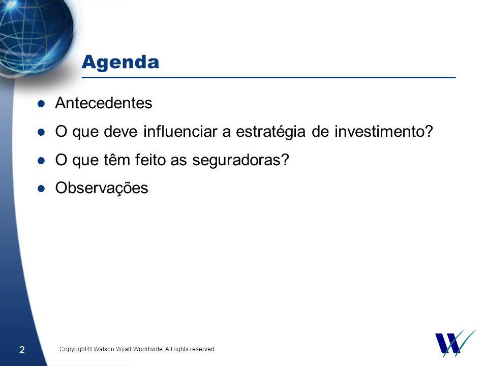 2 Agenda Antecedentes O que deve influenciar a estratégia de investimento.