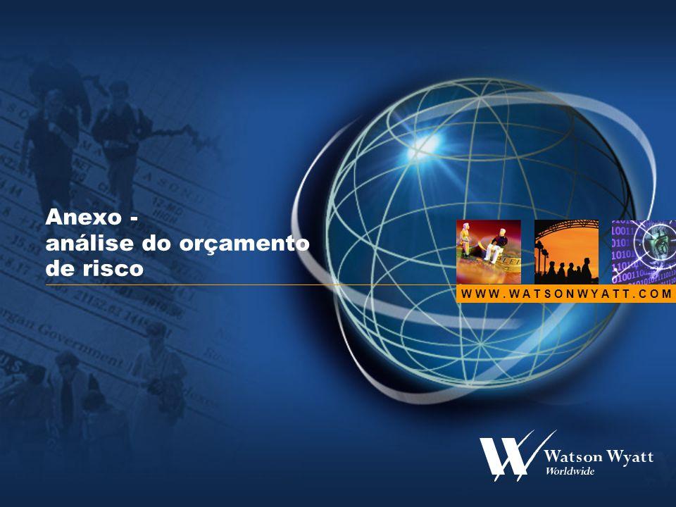 W W W. W A T S O N W Y A T T. C O M Anexo - análise do orçamento de risco