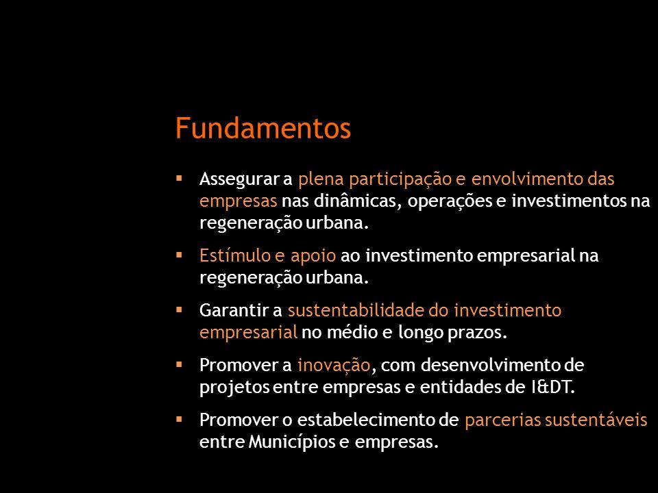  Assegurar a plena participação e envolvimento das empresas nas dinâmicas, operações e investimentos na regeneração urbana.  Estímulo e apoio ao inv