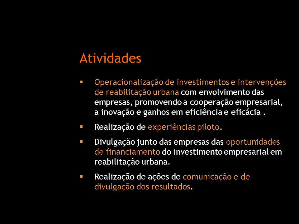  Operacionalização de investimentos e intervenções de reabilitação urbana com envolvimento das empresas, promovendo a cooperação empresarial, a inova