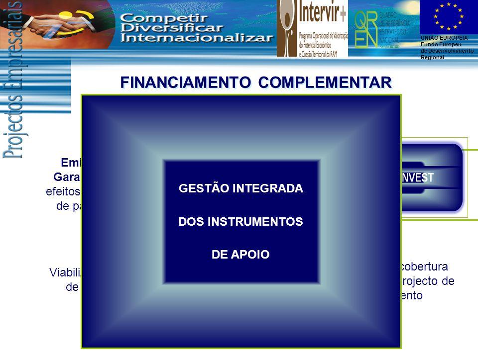 UNIÃO EUROPEIA Fundo Europeu de Desenvolvimento Regional EMPREENDINOV Emissão de Garantias para efeitos de pedidos de pagamento Financiamento Bancário