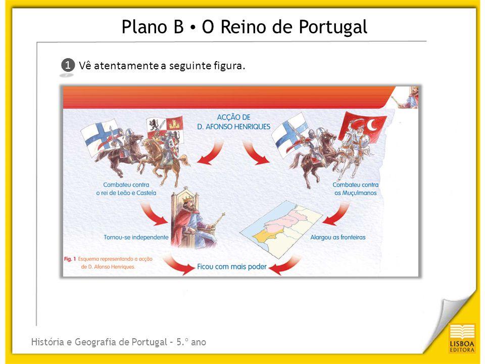 Plano B O Reino de Portugal História e Geografia de Portugal – 5.º ano ❶ ❶ Vê atentamente a seguinte figura.