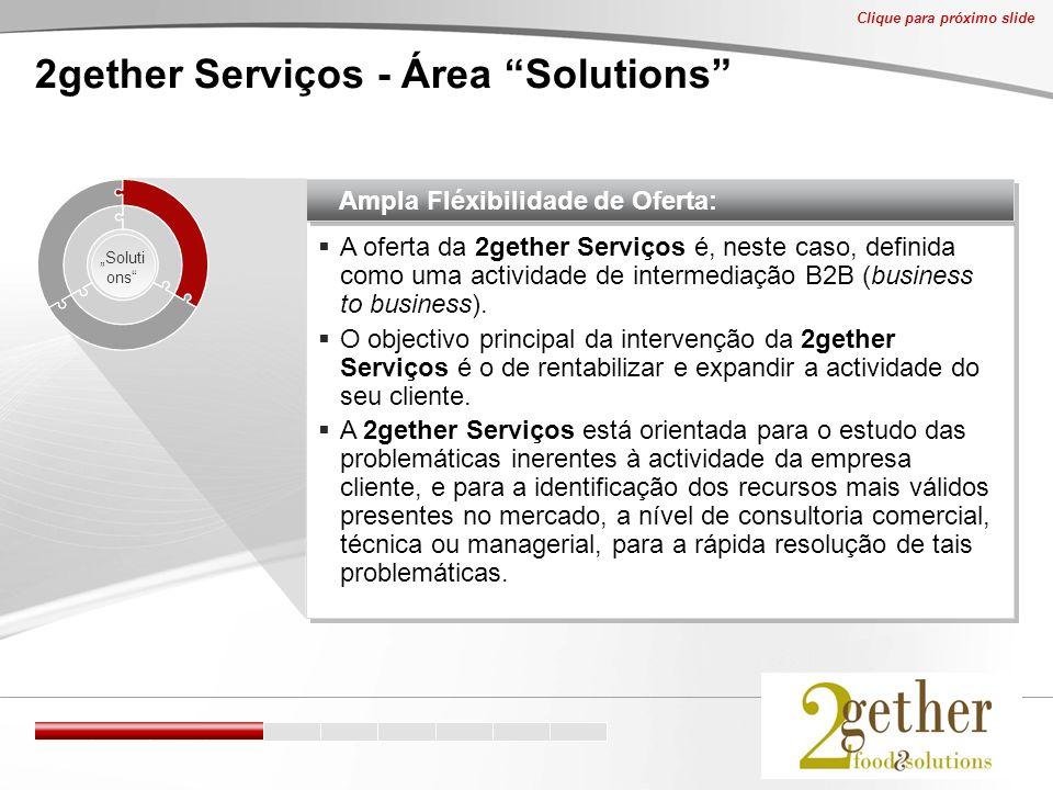  A oferta da 2gether Serviços é, neste caso, definida como uma actividade de intermediação B2B (business to business).