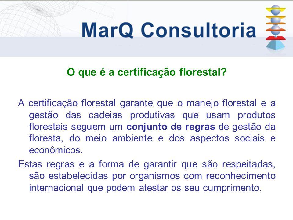 O que é a certificação florestal.