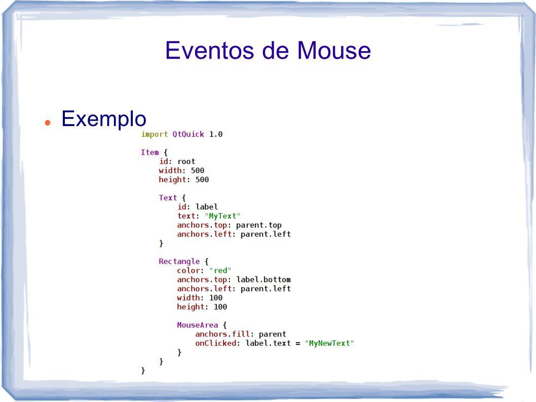 Eventos de Mouse Exemplo