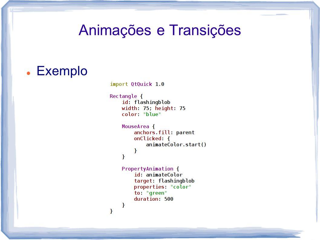 Animações e Transições Exemplo