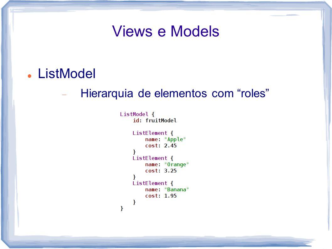 """Views e Models ListModel  Hierarquia de elementos com """"roles"""""""