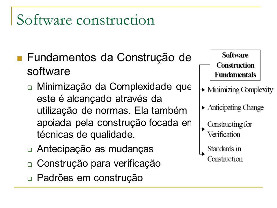 Fundamentos da Construção de software  Minimização da Complexidade que este é alcançado através da utilização de normas. Ela também é apoiada pela co