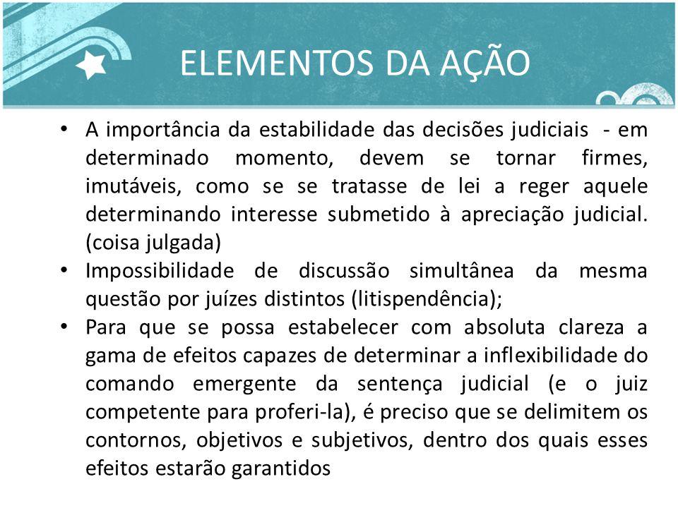 A importância da estabilidade das decisões judiciais - em determinado momento, devem se tornar firmes, imutáveis, como se se tratasse de lei a reger a