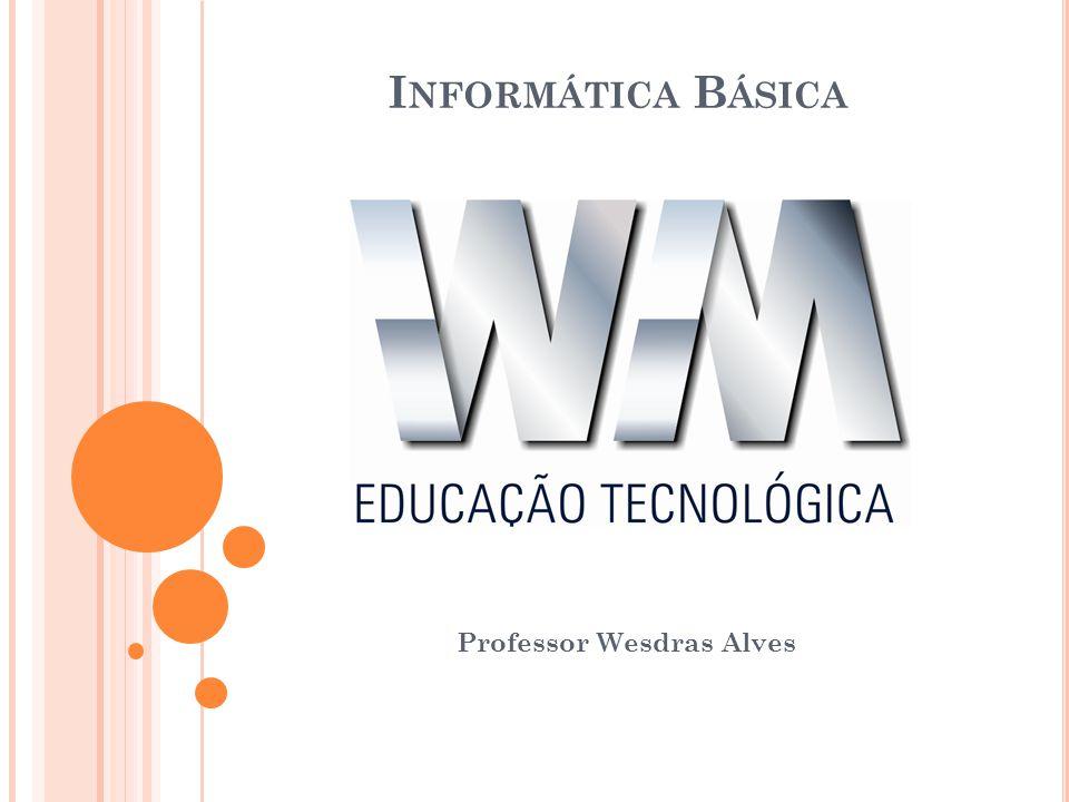 I NFORMÁTICA B ÁSICA Professor Wesdras Alves