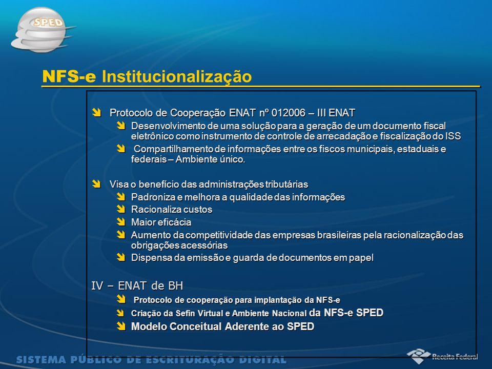 Sistema Público de Escrituração Digital  Protocolo de Cooperação ENAT nº 012006 – III ENAT  Desenvolvimento de uma solução para a geração de um docu