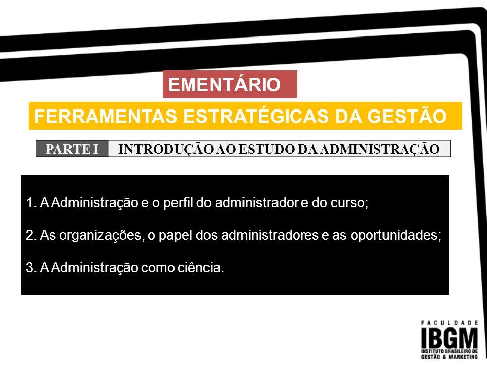 FERRAMENTAS ESTRATÉGICAS DA GESTÃO EMENTÁRIO PARTE IIIA EMPRESA E AS ORGANIZAÇÕES NO SÉCULO XXI 1.