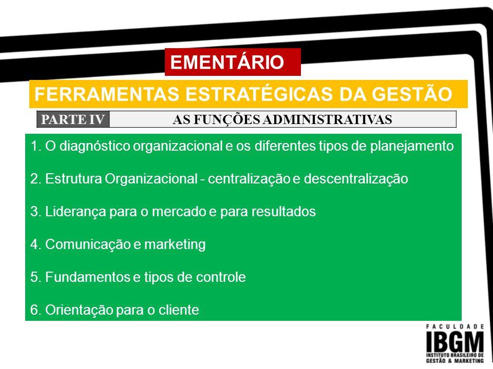 FERRAMENTAS ESTRATÉGICAS DA GESTÃO PARTE IINTRODUÇÃO AO ESTUDO DA ADMINISTRAÇÃO A Administração como ciência.