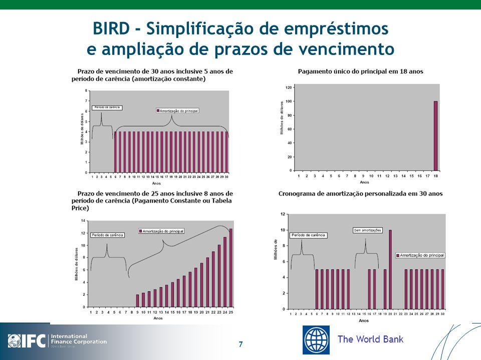 The World Bank 7 BIRD - Simplificação de empréstimos e ampliação de prazos de vencimento