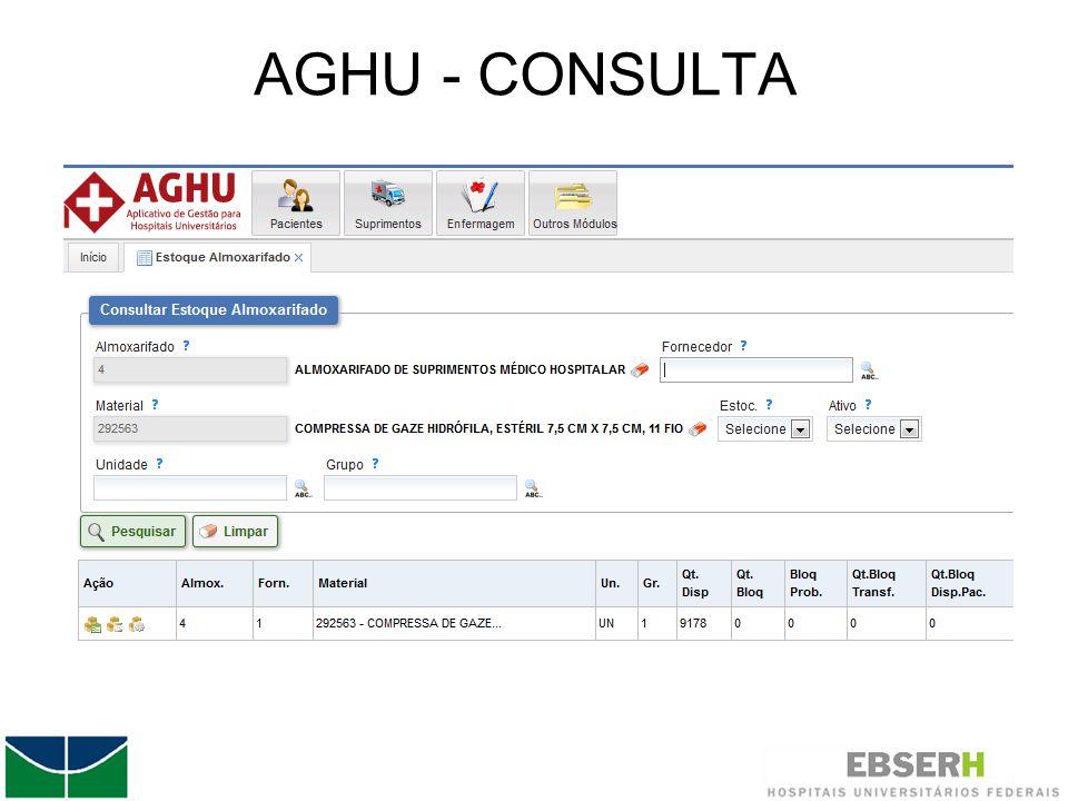 AGHU - CONSULTA