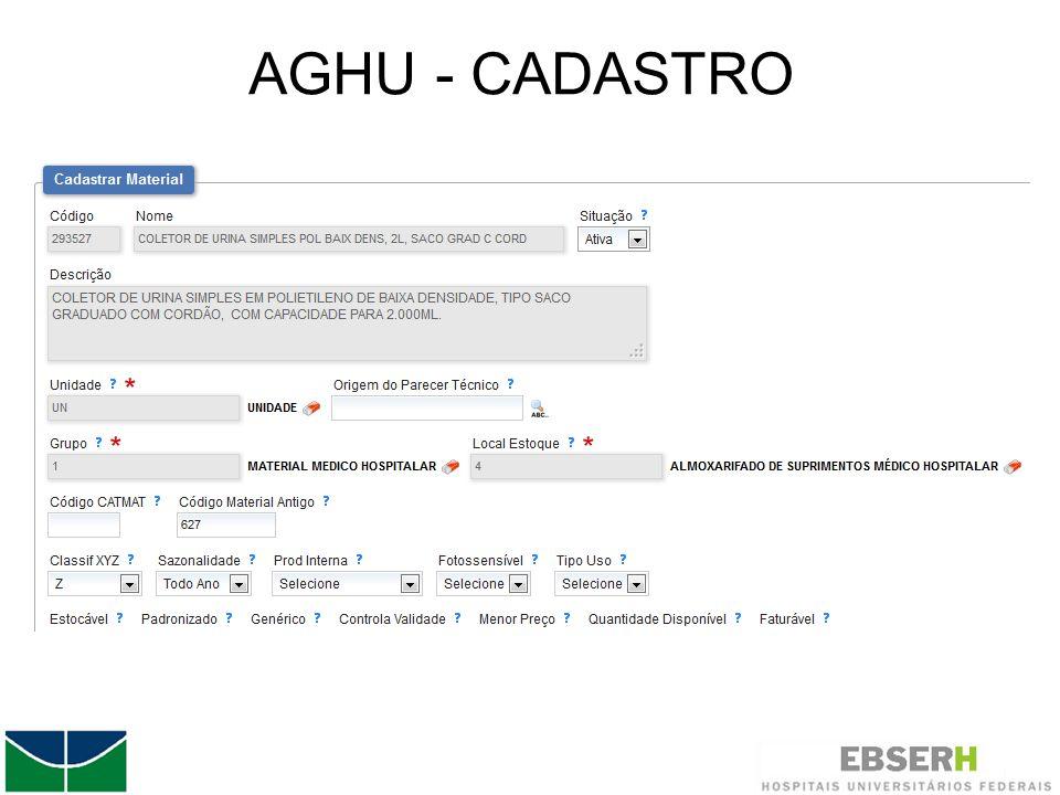 AGHU - CADASTRO