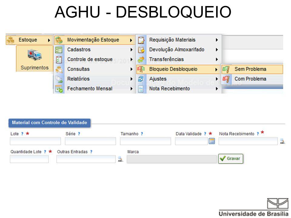 AGHU - DESBLOQUEIO