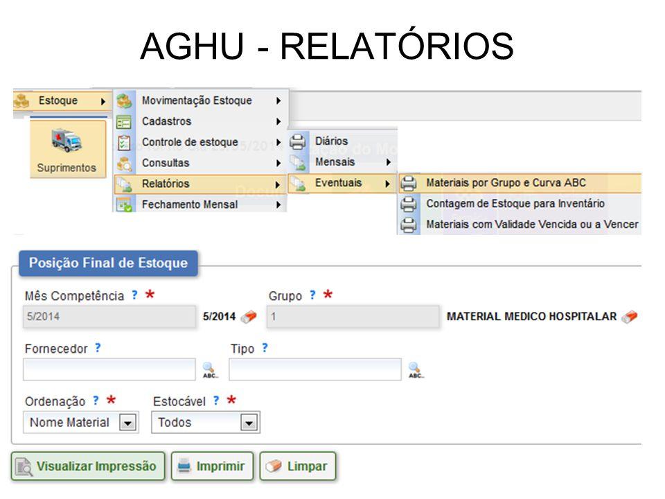 AGHU - RELATÓRIOS