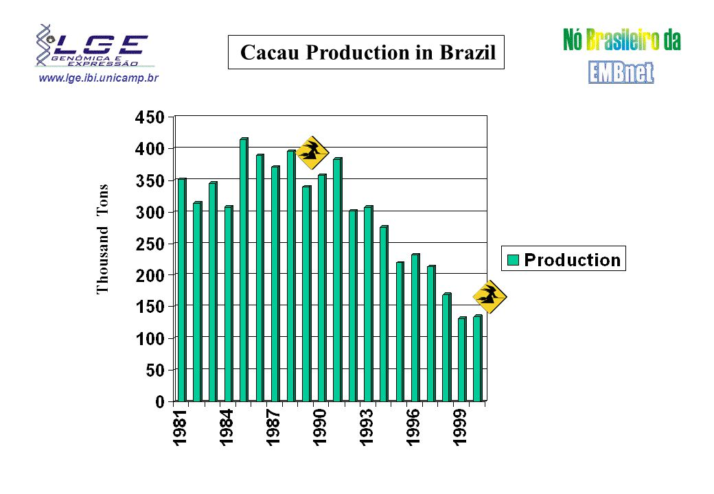 www.lge.ibi.unicamp.br Cacau Production in Brazil Thousand Tons