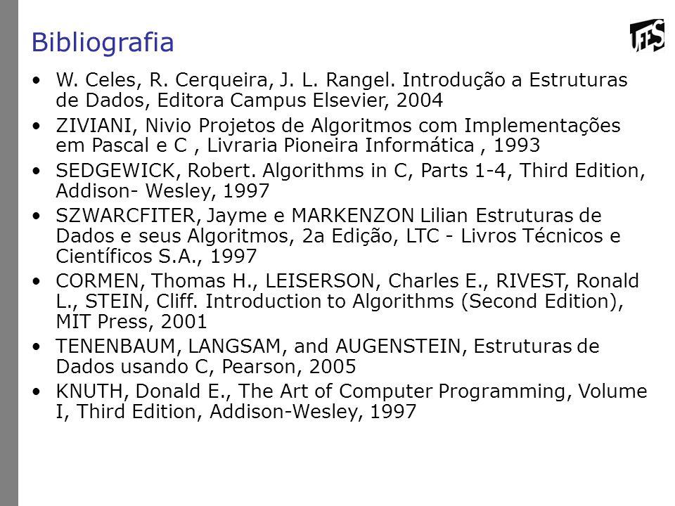 Bibliografia W.Celes, R. Cerqueira, J. L. Rangel.