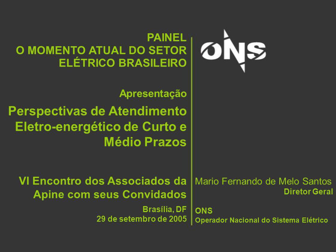 32 PAINEL: O Momento Atual do Setor Elétrico Brasileiro – 29 set 2005 Cenário de Oferta – UHEs + Itaipu Base: PMO Junho de 2005 Voltar
