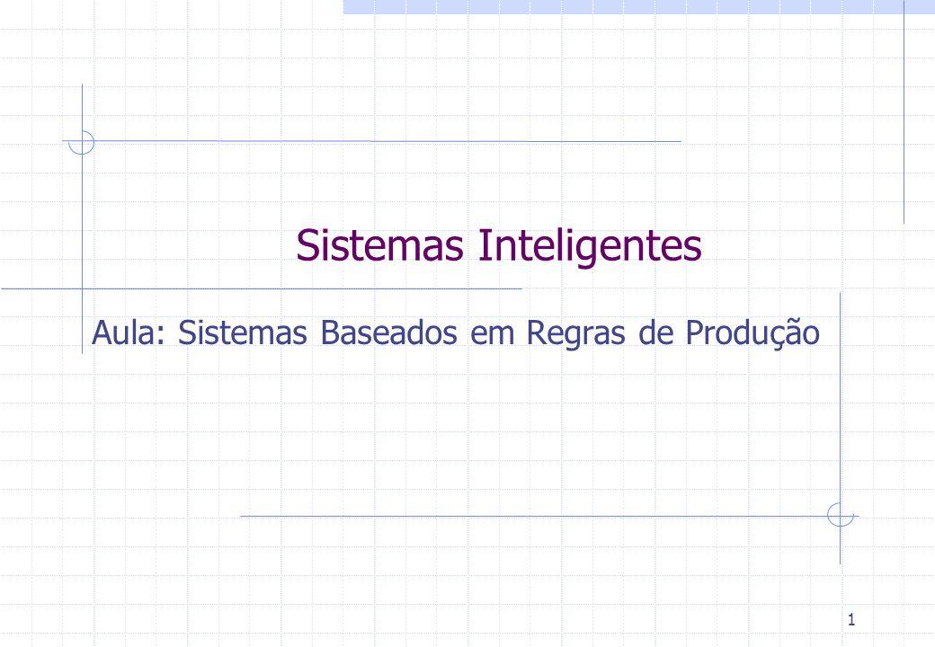 Sistemas Inteligentes Aula: Sistemas Baseados em Regras de Produção 1